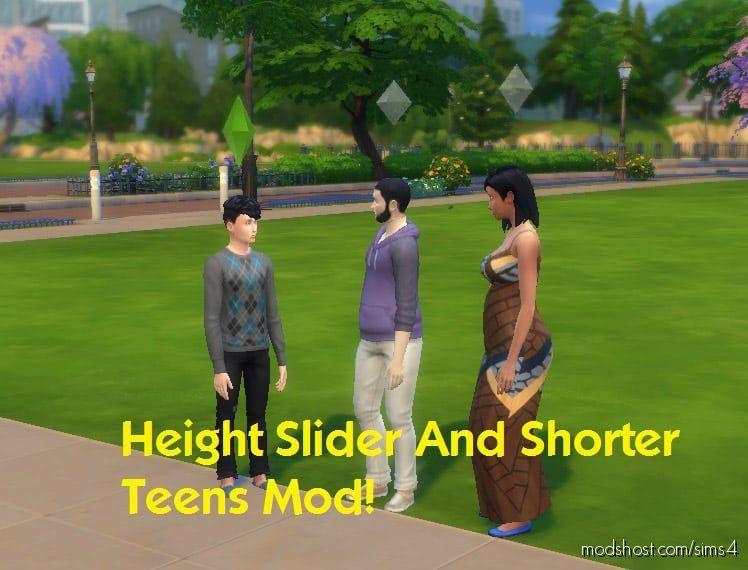 Height Slider And Shorter Teens Mod V1.2 for The Sims 4