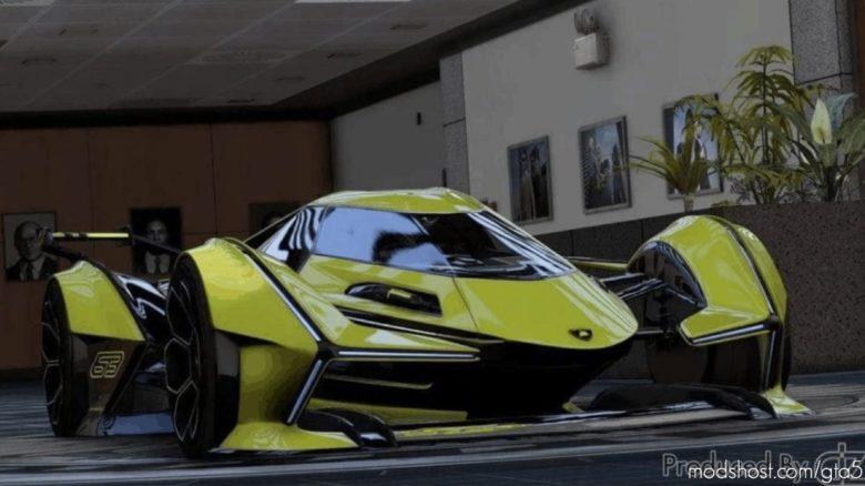 Lamborghini V12 Vision GT Final V1.1 for Grand Theft Auto V