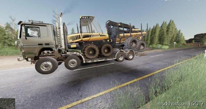 Sisu Polar Forest Machine Transport for Farming Simulator 19
