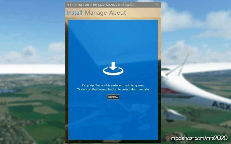Package Manager For MSFS V1.2.0 for Microsoft Flight Simulator 2020
