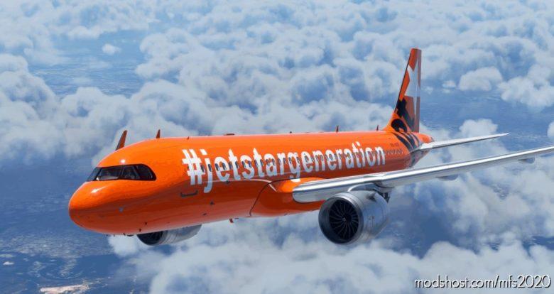 A320Neo Jetstar Airways [8K/Ultra] – Vh-Vgf – 'Jetstar Generation' V1.1 for Microsoft Flight Simulator 2020