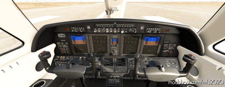Cockpit Livery Citation CJ4 Black/Creme/Creme V2.3 for Microsoft Flight Simulator 2020