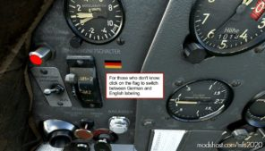 Piaggio P.149 German Cockpit Labeling V1.2 for Microsoft Flight Simulator 2020