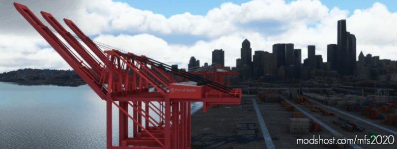 Puget Sound Cargo Terminals, Seattle And Tacoma WA USA for Microsoft Flight Simulator 2020