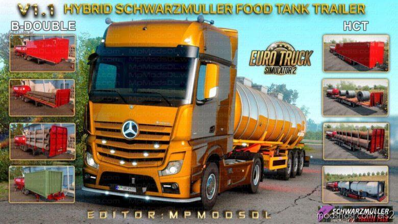 Hybrid Schwarzmuller Food Tank Trailer Mod V1.1 for Euro Truck Simulator 2
