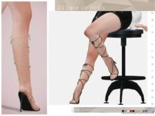 DS Lace UP Heels for The Sims 4