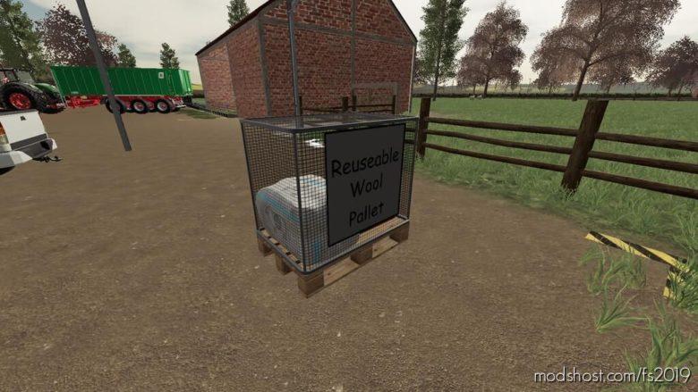 Wool Pallet for Farming Simulator 19