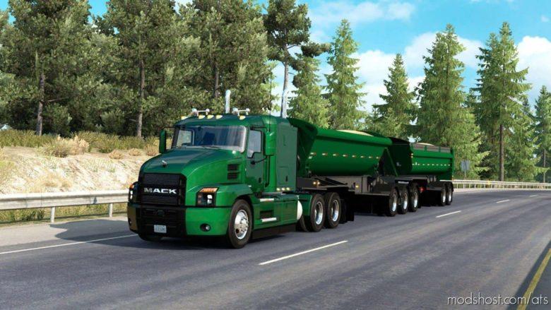 The Midland B-Train Dump Trailer Ownable [1.39] for American Truck Simulator