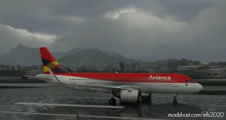 Avianca Brazil (OLD Livery) A320 NEO – 8K for Microsoft Flight Simulator 2020