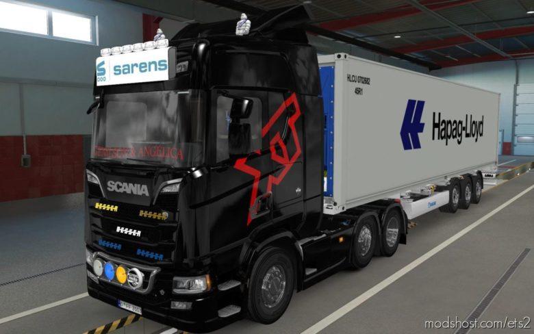 BIG Lightbox Scania R And S 2016 Sarens [1.39] for Euro Truck Simulator 2