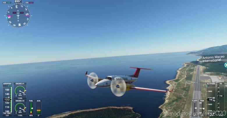 King AIR 350 AS Roma for Microsoft Flight Simulator 2020