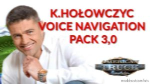 K.holowczyc Voice Navigation Pack V3.0 for American Truck Simulator