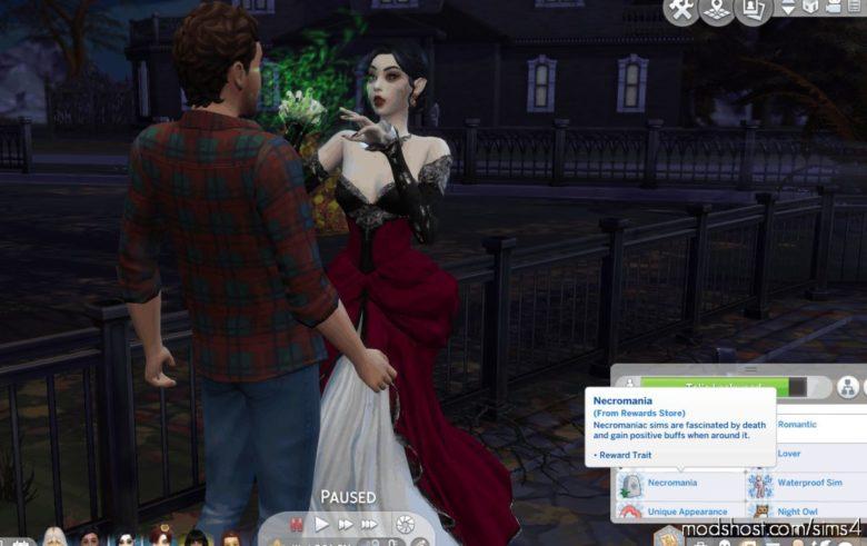 Necromania Reward Trait for The Sims 4