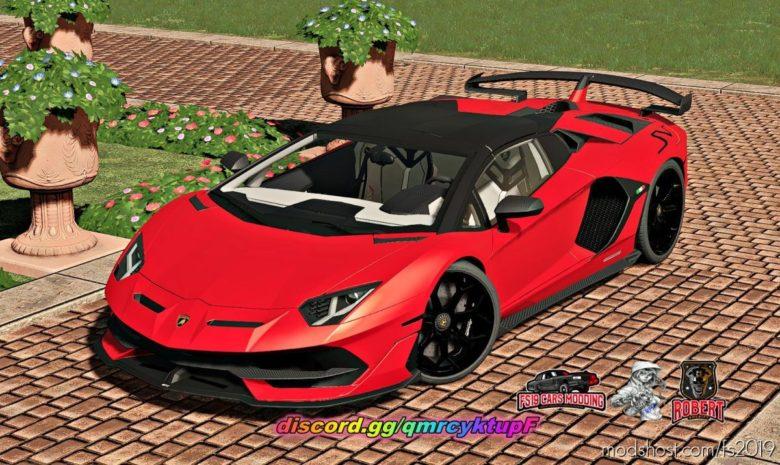Lamborghini Aventador SVJ Roadster for Farming Simulator 19