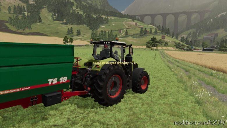 Player Pays For Crop Destruction for Farming Simulator 19