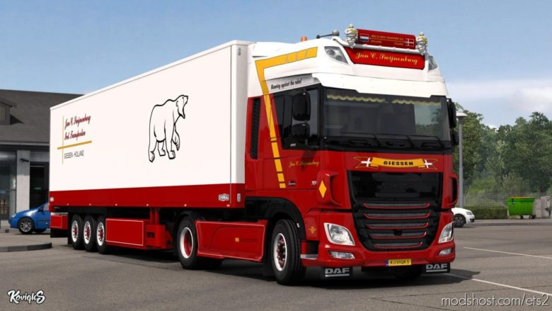 DAF XF Euro 6 JAN C. Swijnenburg Skin Pack for Euro Truck Simulator 2