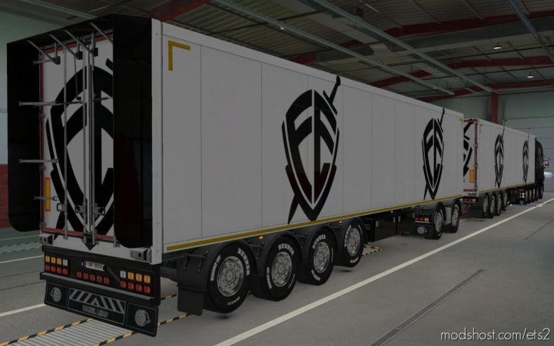 Skin Owned Trailers Escudo FE [1.39] for Euro Truck Simulator 2