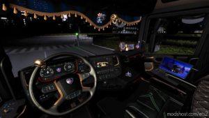 Dark Interior Scania S/R 2016 Pack for Euro Truck Simulator 2