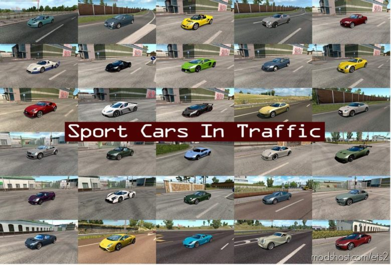 Sport Cars Traffic Pack By Trafficmaniac V7.9 for Euro Truck Simulator 2
