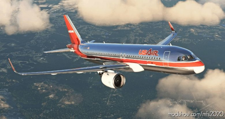 Usair A320Neo (Orange/Red Colors) for Microsoft Flight Simulator 2020
