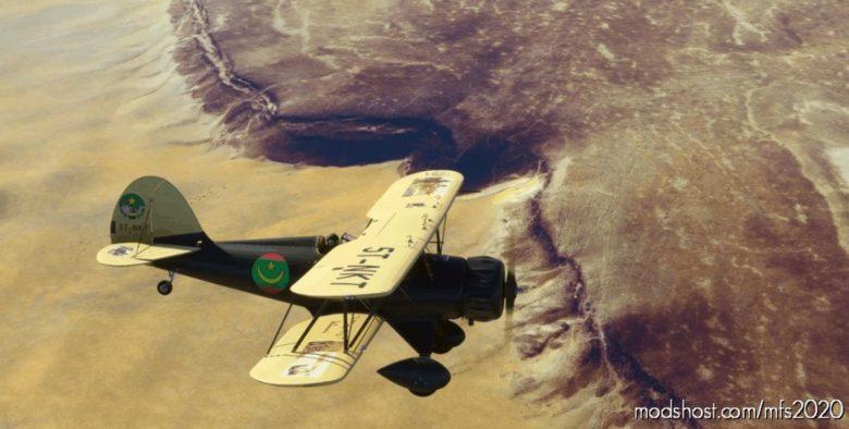 Waco YMF5 5T-Nkt Mauritania for Microsoft Flight Simulator 2020