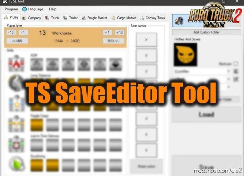 TS SaveEditor Tool V0.2.5.3 [1.39.X] for Euro Truck Simulator 2