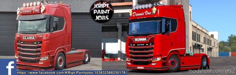 Dennis VOS Skin By Kript Paintjob's for Euro Truck Simulator 2