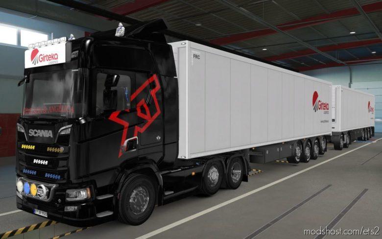 BIG Lightbox Scania R And S 2016 Girteka Logistics [1.39] for Euro Truck Simulator 2