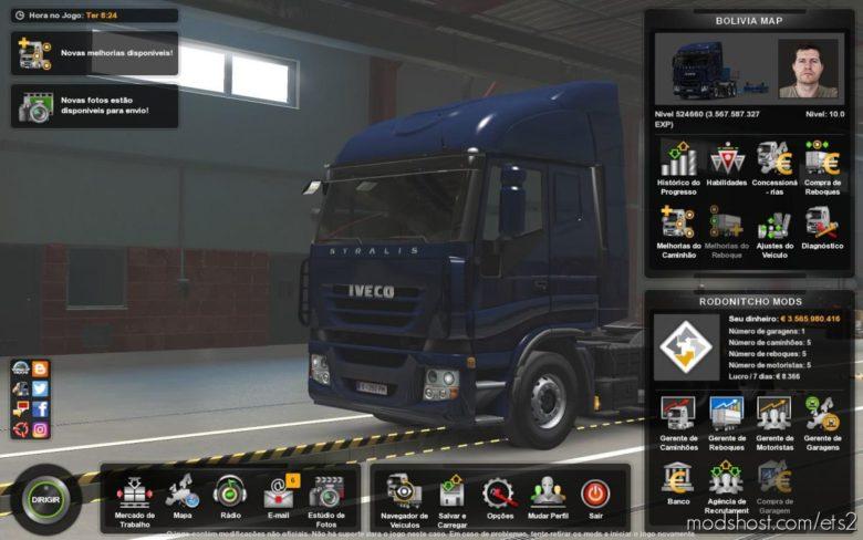 Profile Bolivia Map By Maxi Zarich [1.39] for Euro Truck Simulator 2