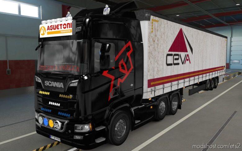 BIG Lightbox Scania R And S 2016 Aguetoni Transportes [1.39] for Euro Truck Simulator 2