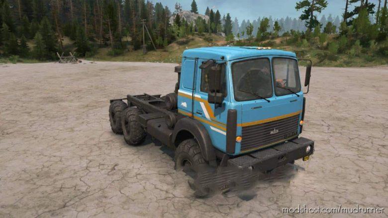 Texture For MAZ-6317 V1.2 for MudRunner