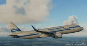 [8K] Finnair Retro A320Neo Livery for Microsoft Flight Simulator 2020