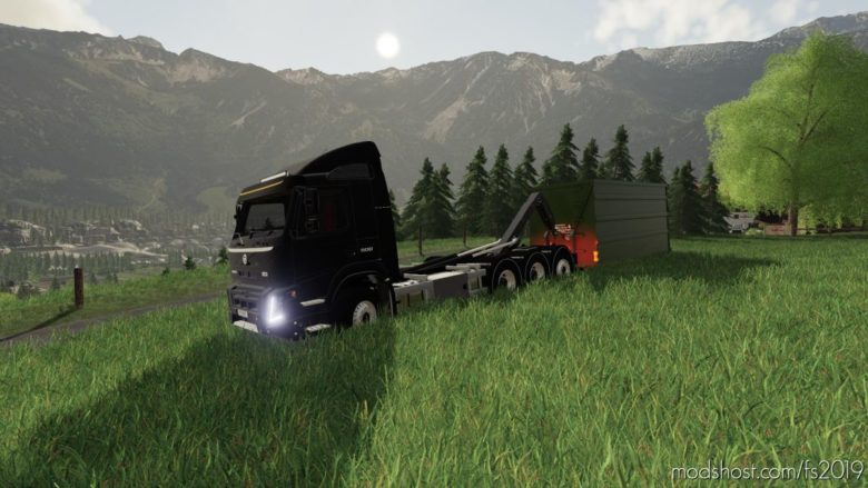 Volvo FMX Hooklift 8X4 for Farming Simulator 19