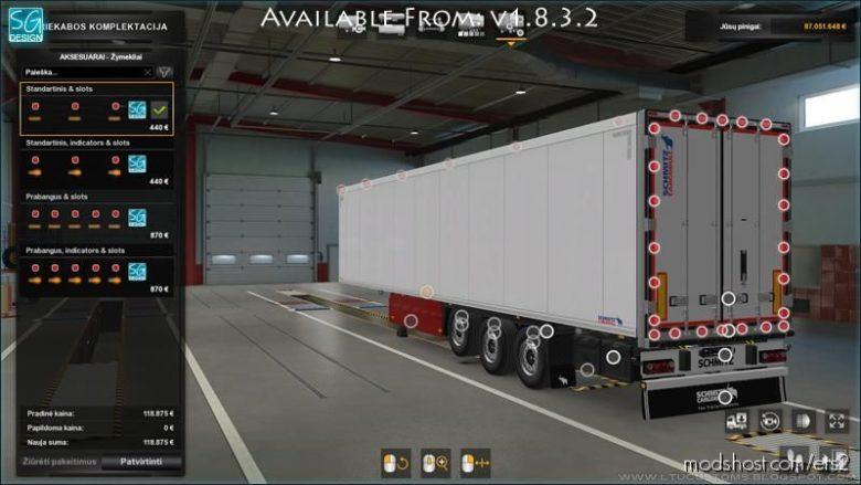 SCS Trailer Tuning Pack V1.8.3.2 [1.39] for Euro Truck Simulator 2