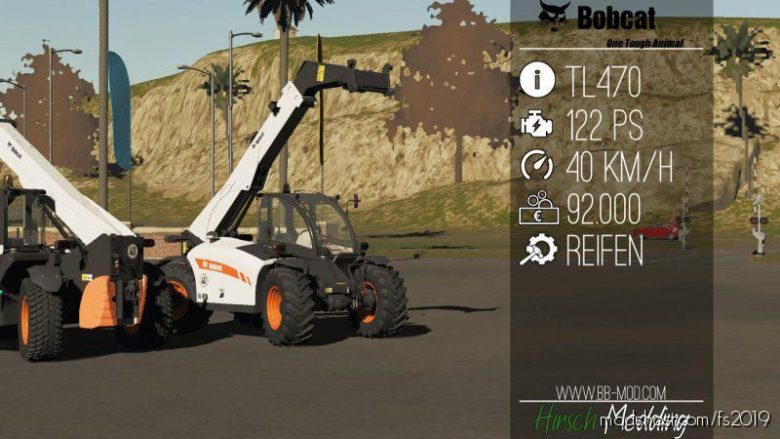 Bobcat TL470 HF for Farming Simulator 19