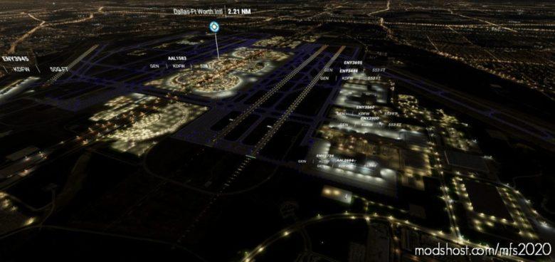 Kdfw – Dallas/Fort Worth International Airport – Night Lighting FIX for Microsoft Flight Simulator 2020