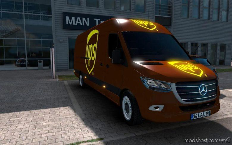 Skin Mercedes-Benz Sprinter 2019 UPS And ATS [1.39] for Euro Truck Simulator 2
