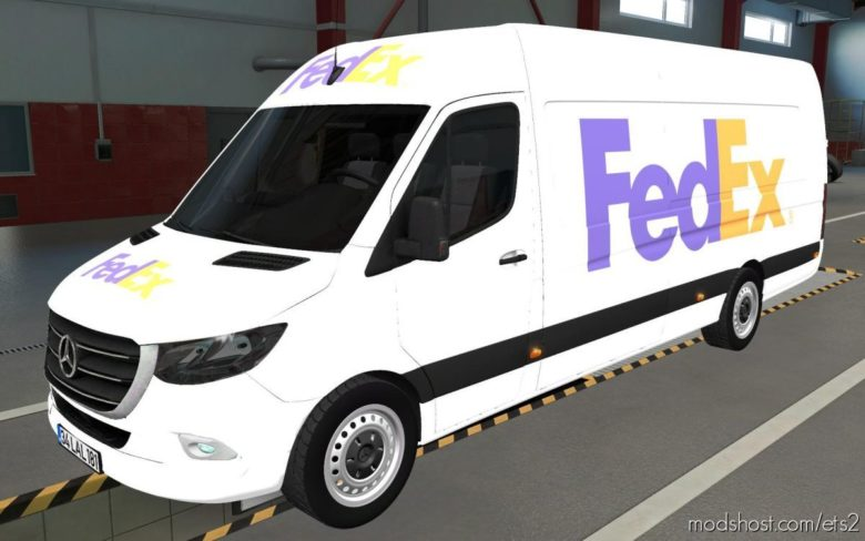 Skin Mercedes-Benz Sprinter 2019 Fedex [1.39] for Euro Truck Simulator 2