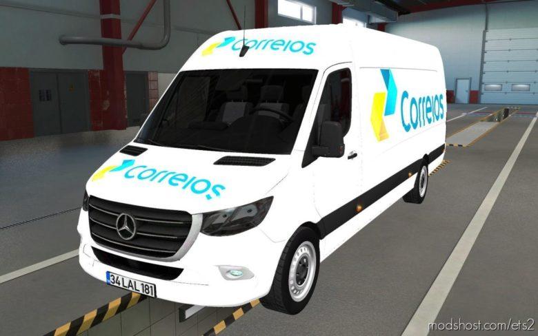 Skin Mercedes-Benz Sprinter 2019 Correios And ATS [1.39] for Euro Truck Simulator 2