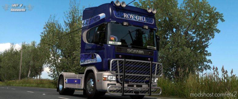 ROY Gill Haulage Scania Skin for Euro Truck Simulator 2