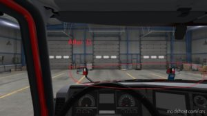 Mack Anthem Interior View Hood FIX for American Truck Simulator