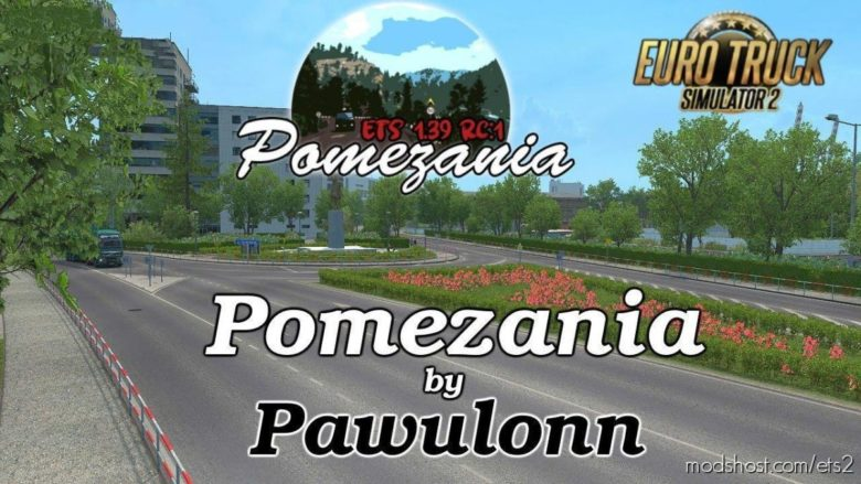 Pomezania Map Scale 1:1 V1.1 [1.40.X] for Euro Truck Simulator 2