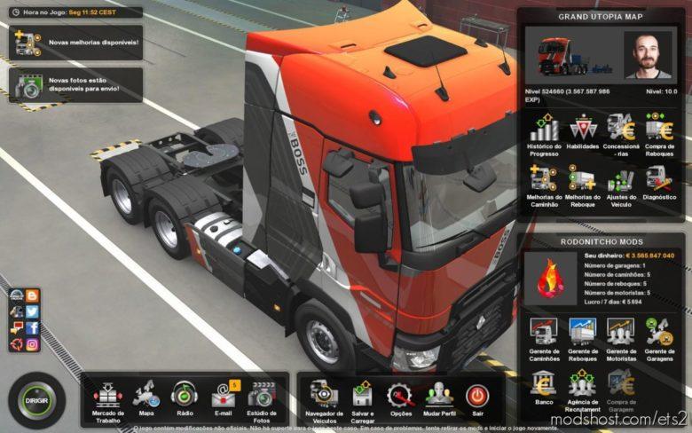 Profile Grand Utopia Map By Mygodness 1.9 [1.39] for Euro Truck Simulator 2