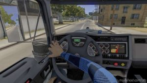 Interior Driver Mod [Animated Hands] [1.40] for American Truck Simulator