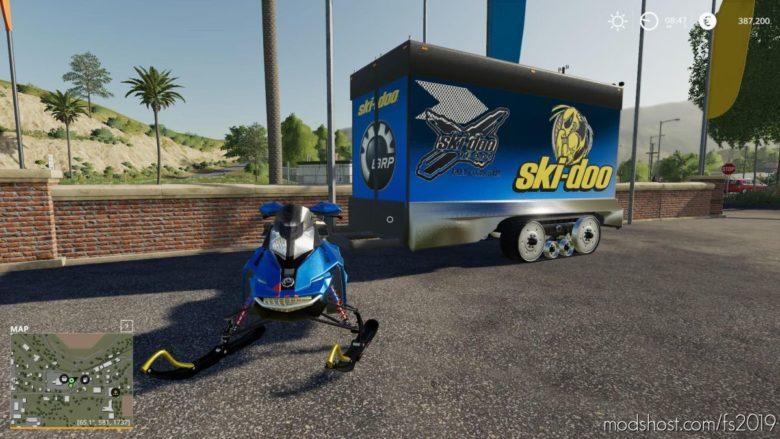 SKI DOO 800-R Snowmobile for Farming Simulator 19