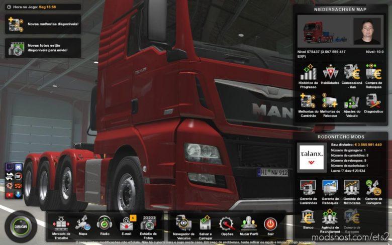 Profile Niedersachsenmap (N-Map) 1.8.5 [1.39] for Euro Truck Simulator 2