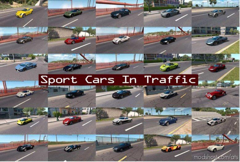 Sport Cars Traffic Pack (ATS) By Trafficmaniac V8.0 for American Truck Simulator