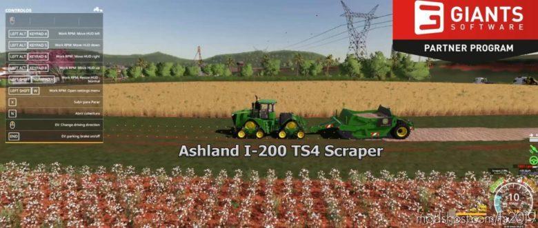 Ashland I-200 TS4 Scraper for Farming Simulator 19