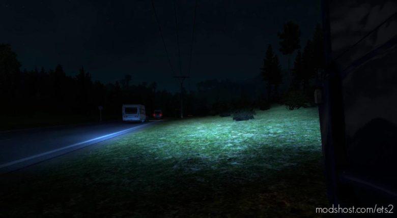Xenon Lights Effect For Various Trucks [1.39 – 1.40] for Euro Truck Simulator 2