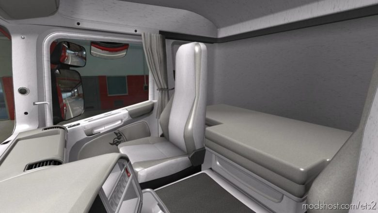 Scania R2009 – Exclusive White Interior for Euro Truck Simulator 2